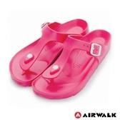 【AIRWALK】百搭羅馬夾腳拖鞋(桃紅色)