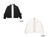 NIKE 女棉質運動外套 AS W NSW RPL ESSNTL GX JKT 黑白-CZ8801010/CZ8801100