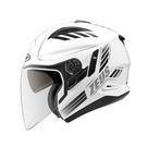 【東門城】ZEUS ZS613B AJ10(白黑) 半罩式安全帽 雙鏡片