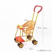 夏季仿藤椅推車輕便萬向輪嬰兒手推車仿竹藤透氣藤編兒童小推車
