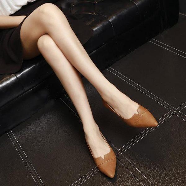 夏季韓版平底鞋 淺口尖頭一腳蹬時尚鞋《小師妹》sm1183