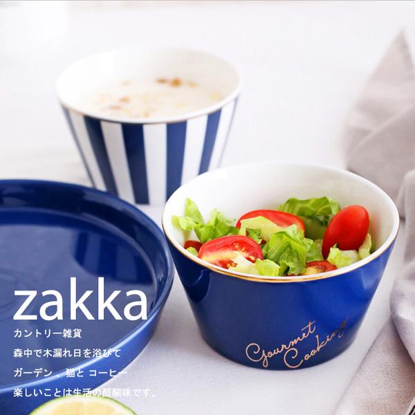 創意zakka-愛情海藍金陶瓷碗(2款可挑)--沙拉碗 早餐碗 創意餐具 zakka雜貨 開店用品