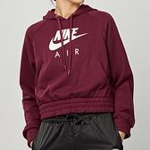 Nike NSW air hoodie flc 女款 酒紅 運動 休閒 帽T 連帽 上衣 CU6562-638