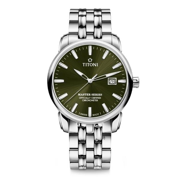TITONI 梅花 大師系列 天文台認證機械錶 83188S-660 綠