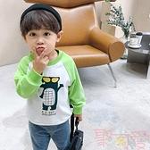 男童衛衣秋裝卡通印花長袖上衣【聚可愛】