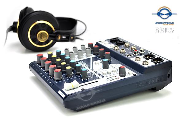 【音響世界】英國Soundcraft 新款Notepad系列8 軌帶FX精巧型USB混音器》贈美製麥克風線》公司貨