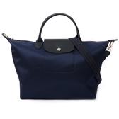 【LONGCHAMP】M號厚款尼龍二用包Le Pliage Neo (深藍色)1515578006