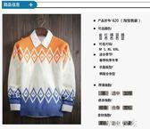 秋冬季韓版男士圓領套頭針織衫青年學生男裝潮流修身線衣外套 千惠衣屋