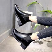 馬丁靴女復古英倫風短靴2018秋季新款韓版百搭休閒粗跟切爾西靴子 卡布奇諾
