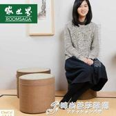 日式草編高蒲團坐墊加厚圓茶幾墩子榻榻米墊飄窗地板坐墊梳妝坐墩 時尚WD