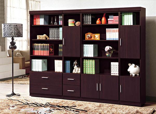 【森可家居】肯特胡桃2.7尺雙門書櫃 7SB241-11 開放書櫥 收納 MIT台灣製造