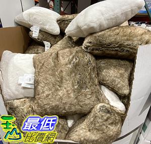 [COSCO代購] C1269800 FAUX FUR DECO PILLOW 美國製彷動物抱枕 尺寸:50X50公分
