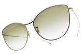 OLIVER PEOPLES 太陽眼鏡 RAYETTE 50358E (銅-漸層綠鏡片) 微貓眼造型款 墨鏡 # 金橘眼鏡