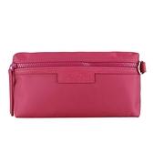 【南紡購物中心】LONGCHAMP LE PLIAGE NÉO系列新款厚尼龍手拿包(樹莓紅)
