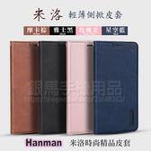 【米洛皮套】Apple iPhone 8 / 7 4.7吋 Hanman 輕薄吸合式保護套/側掀斜立支架/A1660/A1778/A1905-ZW
