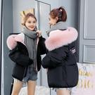 冬季新款韓版bf寬鬆羽絨棉服女短款學生棉衣女大毛領棉襖外套XL1261【東京衣社】