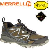 【MERRELL 美國 男款 CAPRA BOLT MID GORE-TEX 登山鞋 〈深橄欖綠〉】ML37423/休閒鞋/登山鞋/運動鞋★滿額送