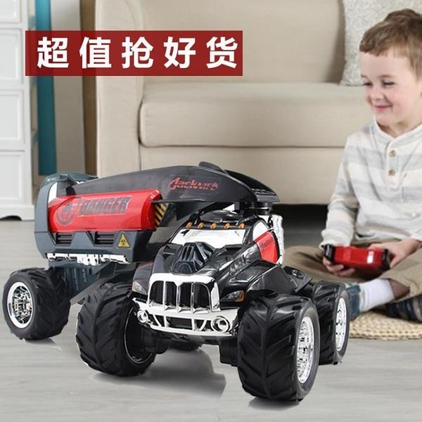 超大遙控車汽車 特技遙控越野車男孩玩具汽車翻斗翻滾油罐車  標配 HM
