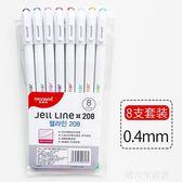 韓國簡約小清新水彩筆水性針管筆套裝勾線筆可愛多功能手賬彩色  晴川生活馆NMS