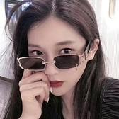 墨鏡 個性搞怪眼鏡女小框網紅墨鏡拍照ins復古潮抖音方形太陽鏡男嘻哈 韓國時尚週
