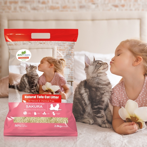 【寵物王國】EcoClean艾可天然草本輕質型豆腐貓砂-櫻花味2.8kg