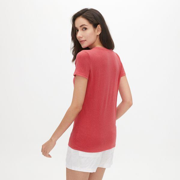 Gap女裝 Logo活力純色短袖T恤 468998-桃紅
