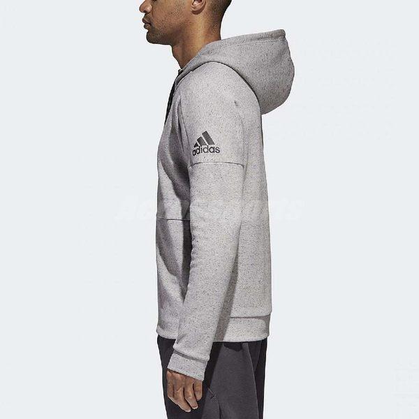 adidas 連帽外套 ID Stadium Jacket 男款 帽T外套 夾克 長袖 上衣 基本款 棉質 麻灰 【PUMP306】 BQ1648