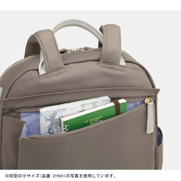 Kanana卡娜娜 多功能尼龍大型後背包/附零錢包(米灰色)241007-05