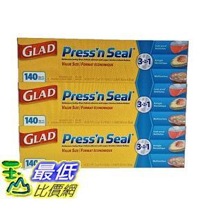 [COSCO代購] W350086 Glad Press'n Seal 強力保鮮膜 3入