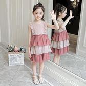 女童洋裝 夏裝2019新款韓版中大兒童裙子超洋氣公主裙女孩蛋糕裙LB20099【3C環球數位館】