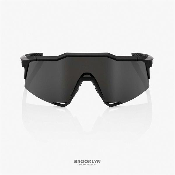 【100%】太陽眼鏡 黑色 運動 騎行 21 SPEEDCRAFT - SOFT TACT BLACK W/ SMOKE 1006100110202