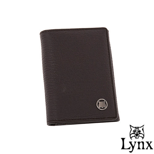 Lynx - 自信熟男真皮系列簡約式名片夾-共2色