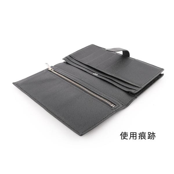 【HERMES】Bearn H Epsom銀釦皮夾(黑色) HE21000057