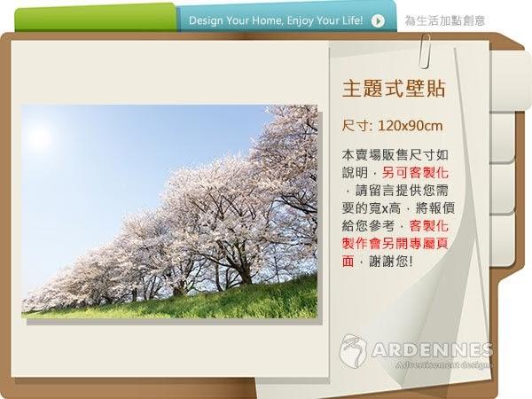 【ARDENNES】防水壁貼 壁紙 牆貼 / 霧面 亮面 / 草原花卉系列 NO.F066