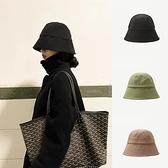 漁夫帽-春夏簡約純色薄款男女盆帽6色73xu1【時尚巴黎】
