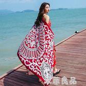 防曬披肩女外搭長款百搭神器圍巾超大絲巾紗巾海邊兩用沙灘巾 『米菲良品』