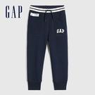 Gap男幼童 Logo碳素軟磨鬆緊休閒長褲 600503-海軍藍