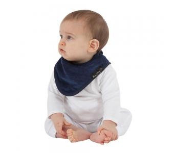 紐西蘭 Mum 2 Mum 機能型神奇三角口水巾圍兜-深藍 吃飯衣 口水衣 防水衣