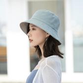 雙面漁夫帽女網紅韓版潮百搭日系遮陽防曬防紫外線太陽帽夏季帽子 後街五號