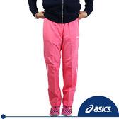 ASICS亞瑟士 女用路跑長褲(粉紅)。