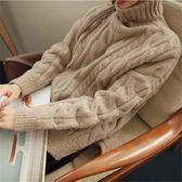 梨卡 - 秋冬氣質甜美純色寬鬆舒適高領保暖毛衣針織衫上衣BR111