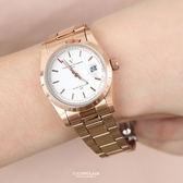 范倫鐵諾˙古柏 玫金簡約手錶 【NEV51】原廠公司貨
