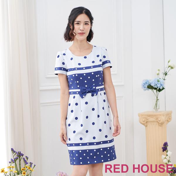 【RED HOUSE 蕾赫斯】點點條紋洋裝