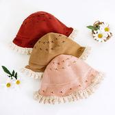 復古鄉村鏤空漁夫帽 帽子 遮陽帽 童帽