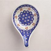 波蘭陶 紅點藍花系列 前菜碟 12x18.5cm 波蘭手工製