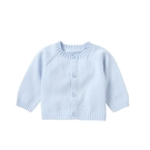 mothercare 藍色素面長袖針織衫-MF四季品(M0U0946)06~24個月