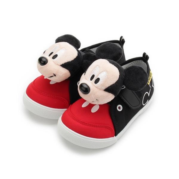 DISNEY 米奇玩偶造型休閒鞋 黑 118834 中童鞋 鞋全家福