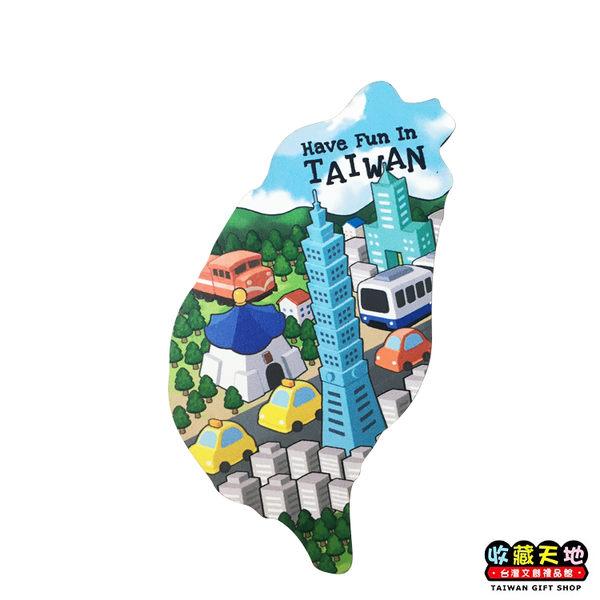 【收藏天地】寶島造型木質冰箱貼*趣味台灣 ∕ 磁鐵 觀光 禮品 愛國 景點 手信