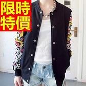 棒球外套女夾克-保暖棉質內刷毛街頭精美龐克風質感修身2色59h172【巴黎精品】