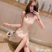 吊帶裙仙氣洋裝小禮服平時可穿性感洋裝夜店女裝仙女裙超仙森系 青木鋪子
